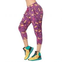 ★国内在庫 I Want My Zumba Cropped Harem Pants Purple Power