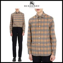 ◆Burberry◆正規品 チェックシャツ CHECK STRETCH COTTON SHIRT