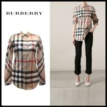 ◆Burberry◆正規品 チェックシャツ STRETCH COTTON CHECK SHIRT