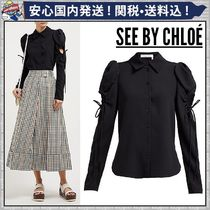 【See by Chloe】★カットアウトディテールクレープシャツ★