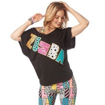 ★国内在庫★ ズンバ Zumba I Want My Zumba Top Bold Black