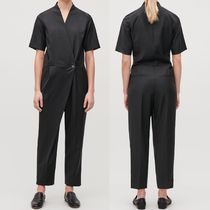 """COS(コス) オールインワン・サロペット """"COS"""" WOOL TAILORED WRAP JUMPSUIT BLACK"""