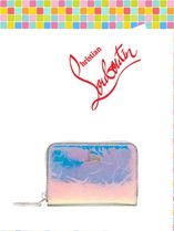 Christian Louboutin/Panettone iridescent-leather coin purse