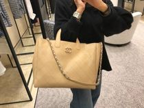Chanel♡2Way shopping L♡お仕事Bagにも!Beige