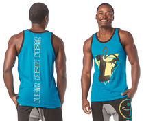 ◆3月新作◆MENS◆I Want My Zumba Men's Tank(Sea of Blue)