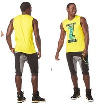 ◆3月新作ユニセックス I Want My Zumba Muscle Tank(Yellow)