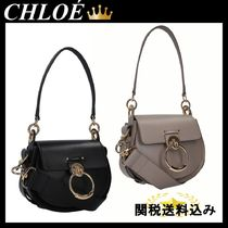 CHLOE Tess small smooth leather and suede bag