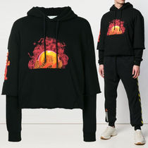 Off-White_Hands&planetプリントパーカー☆正規品・安全発送☆