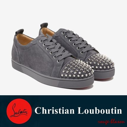 brand new 4144e 69e97 Louis Junior Spikes Flat Shadow Grey Suede Trainers