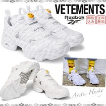 VETEMENTS×Reebok  Instapump Fury スニーカー ベージュ グレー