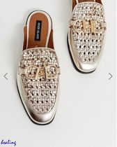 ★ASOS★River Island woven mules with metal trim in gold