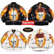 SS19 Supreme Vanson Leathers Ghost Rider Jacket