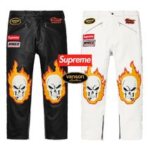 SS19 Supreme Vanson Leathers Ghost Rider Pant - シュプリーム