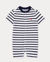 新作♪国内発送 Striped Cotton Jersey Shortall boys 0~24M