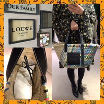 LOEWE【春の新作】カゴバックBasket Bag Blue Multitone/Black
