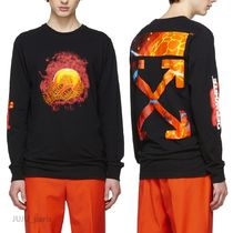 OFF WHITE★2019SS★Hand and Planet長袖Tシャツ★関税&送料込