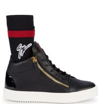 ☆GIUSEPPE ZANOTTI☆ SALE!  Mid Top Leather Sock Sneakers