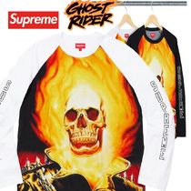 Supreme Ghost Rider Raglan L/S Top Tee SS 19  WEEK 2