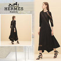 【Resort19】HERMES*エルメス*Flowing dress with lace*ドレス