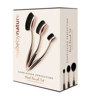 nude by nature(ヌードバイネイチャー) ブラシ 限定★nude by nature★輪郭ブラシ3本セット☆OVAL BRUSH SET