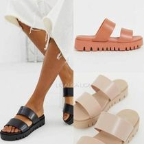 国内発送ASOS DESIGN Fletch chunky jelly flat sandals