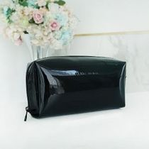 BLANC BLACK(ブランクブラック) メイクポーチ 【BLANC BLACK】Enamel Rectangular Cosmetic Pouch [Black]
