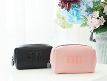 【BLANC BLACK】Stereogram logo mini pouch [2color]
