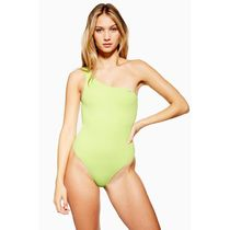 【TOPSHOP】Neon Ribbed One Shoulder Swimsuit【日本未入荷】