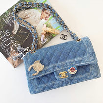 ★2019 CHANEL S/S ★CC DENIM CLASSIC FLAP in blue