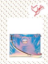 Christian Louboutin/Skypouch iridescent patent leather pouch