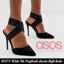 ON&OFF使える!ASOS Wide Fit Payback elastic high heels