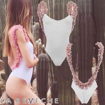 LA REVECHE☆AMIRA WHITE PINK FLOWER-SWIMSUIT 話題沸騰中!
