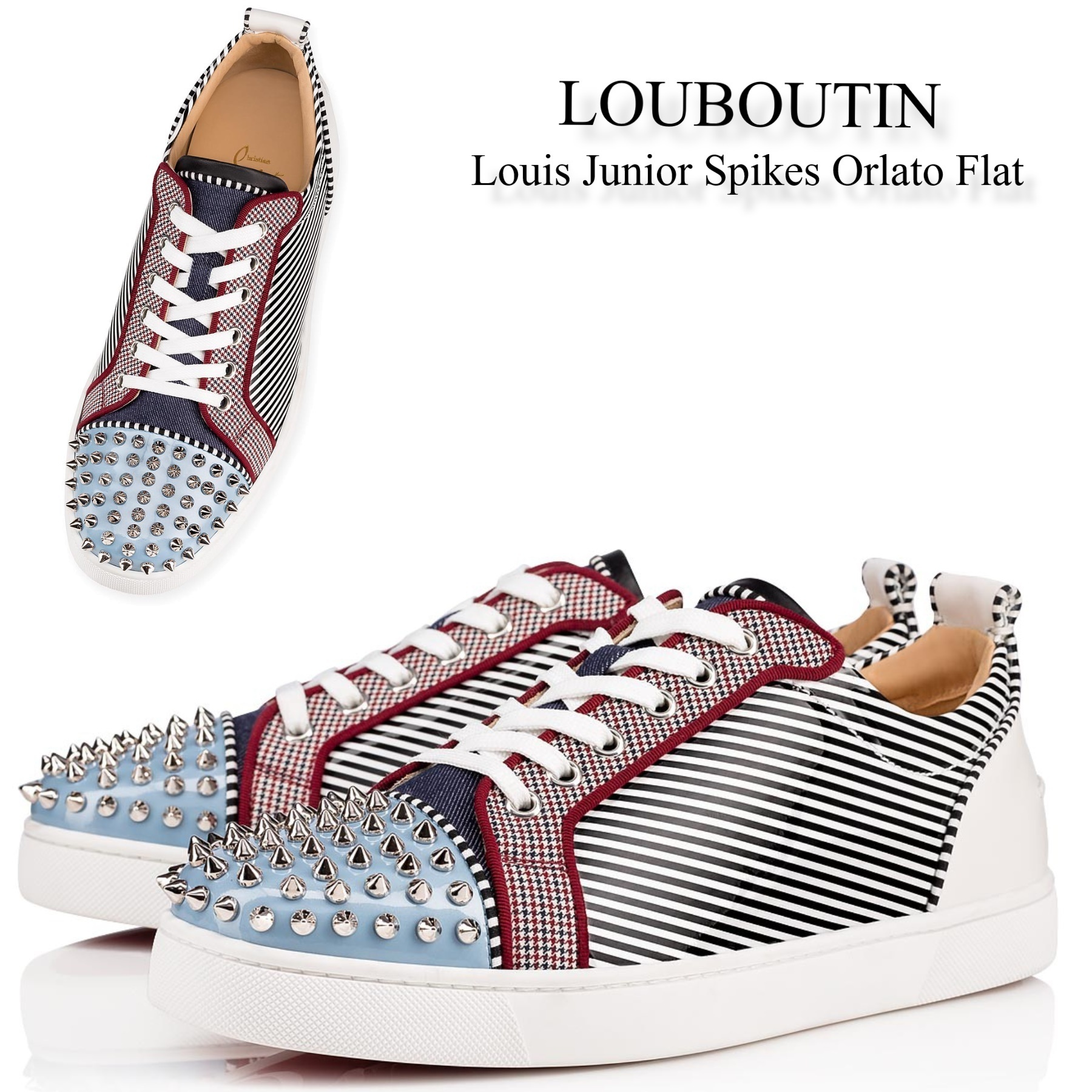 sneakers for cheap 442b6 b4cc2 Christian Louboutin 2019 SS Sneakers (Louis Junior Spikes Orlato Flat,  1191202CMA3)