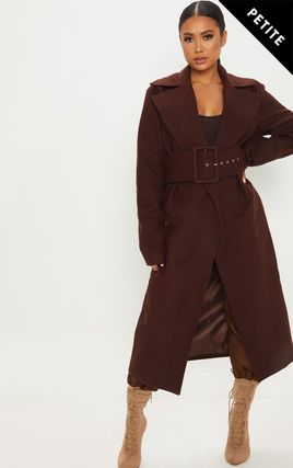 Petite Chocolate Brown Belted Coat