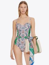 Tory Burch COLOR-BLOCKED UNDERWIRE ONE-PIECE