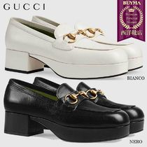 【正規品保証】GUCCI★19春夏★LEATHER PLATFORM LOAFER