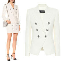 BAL372 WOVEN COTTON DOUBLE BREASTED JACKET
