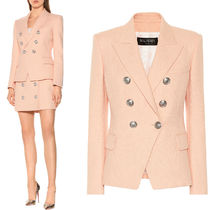 BAL375 COTTON DOUBLE BREASTED JACKET