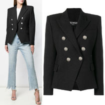 BAL376 COTTON DOUBLE BREASTED JACKET