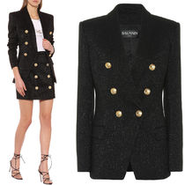 BAL378 WOOL CREPE DOUBLE BREASTED JACKET