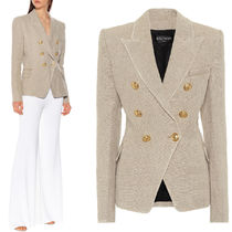 BAL379 LINEN DOUBLE BREASTED JACKET