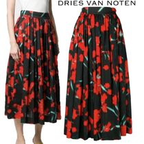【19SS】★Dries Van Noten★patterned pleated skirt