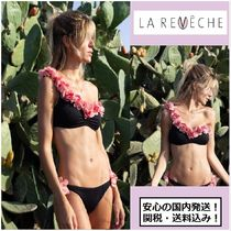 人気!!【LA REVECHE】ADELE ONE SHOULDER BLACK/フラワー/関送込