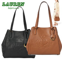 特別価格!Ralph Lauren Huntley Leather Tote