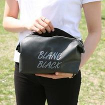 BLANC BLACK(ブランクブラック) ポーチ 【BLANC BLACK】Snap Big pouch and clutch bag[2color]