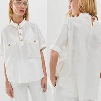 国内発送ASOS/Monki oversized blouse with pockets off white