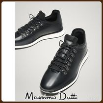 Massimo Dutti(マッシモドゥッティ) スニーカー MassimoDutti♪LIMITED EDITION BLACK LEATHER SNEAKERS