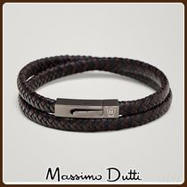 Massimo Dutti(マッシモドゥッティ) ブレスレット MassimoDutti♪DOUBLE-STRAND BRAIDED LEATHER BRACELET