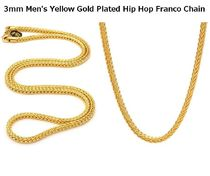 送料関税込【King Ice】3mm Gold Plated Hip Hop Franco Chain