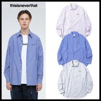 ★関税込★thisisneverthat★Dsn-Logo Striped Shirt★3色